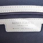 マーク・ジュスティ|MARK/GIUSTI|ショルダーストラップ付き2WAYトートバッグ|ネイビー×ホワイトイメージ06
