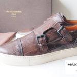 マックスヴェッレ|MAXVERRE|ダブルモンクスニーカー DOUBLE MONK SNEAKER CROCOSISSE AYALA CRO STONE メインイメージ