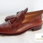 【中古】タニノクリスチ|TANINO CRISTI|ウィングチップキルトタッセルスリッポン|6