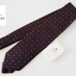 <ルイジボレッリ|LUIGI BORRELLI>シルク100%小紋ネクタイ