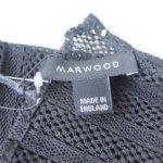 マーウッド|Marwood|メッシュレースポケットチーフ|スクエア|ブラック|ライン柄 イメージ03