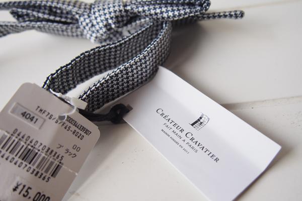クレアテュール クラバティエール|Créateur Cravatier|ハウンドトゥース柄ボウタイイメージ04