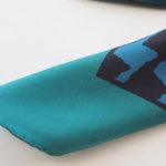 マッシモピオンボ|Mp Massimo Piombo|プリントシルクスカーフ|ネイビー×グリーンイメージ06