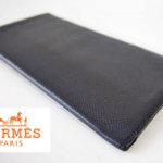 【中古】エルメス|HERMES|2つ折り長財布|札入れ|ブラック