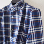 <ステファノコンティ>チェック柄コットンシャツ(ブルー)サブイメージ01
