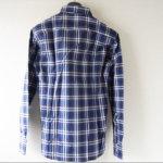 <ステファノコンティ>チェック柄コットンシャツ(ブルー)サブイメージ03