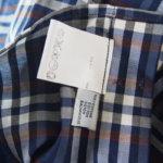 <ステファノコンティ>チェック柄コットンシャツ(ブルー)サブイメージ05