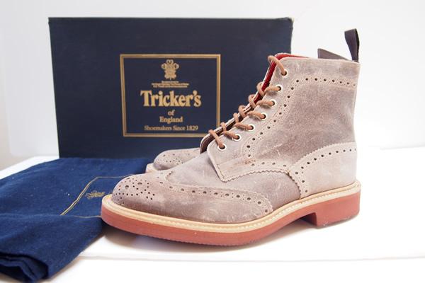 トリッカーズ|Tricker's|カントリーブーツ M2508 waxy calf champagne|7 イメージ01