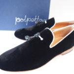 ポルペッタ|Polpetta|ベルベットスリッポン|ブラック|NERO-V|40.5|UOMOイメージ