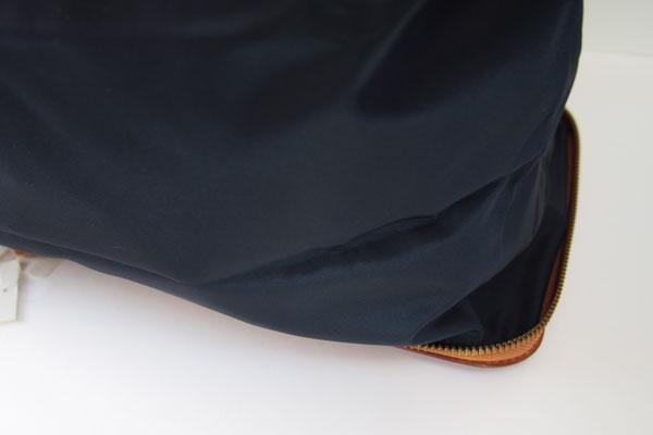 <フェリージ|Felisi>パッカブルトートバッグ(ネイビー×ブラウン)サブイメージ011