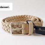 アンダーソンズ|Anderson's|スエード編み込みベルト|85|アイボリー メインイメージ