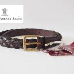 スウェイン・アドニー|Swaine Adeney|ブライドルレザー編み込みベルト(ブラウン|ハバナ)|31/80|No.6 Plaited leather belt with brass west end buckle Bridle Hideメインイメージ
