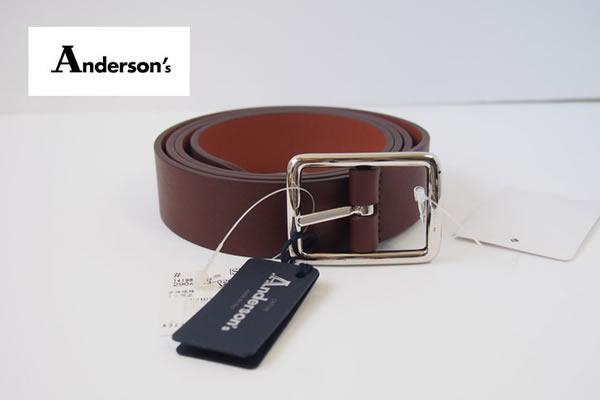 アンダーソンズ|Anderson's|カーフ リバーシブル ベルト|85|ブラウン×ライトブラウンイメージ01