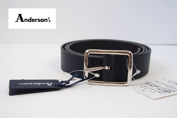 アンダーソンズ|Anderson's|カーフ リバーシブル ベルト|85|ネイビー×ダークブラウンイメージ01