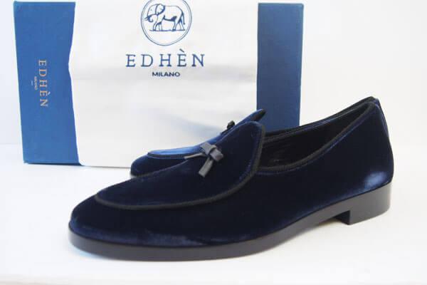 エデン|EDHEN MILANO|リボンモチーフベロア素材ローファー|Kensington Loafers イメージ01