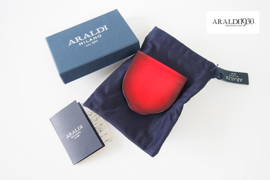アラルディ|ARALDI 1930|小銭入れ|コインケース|ROSSO|レッド|AR B P356 COIN CASEイメージ01