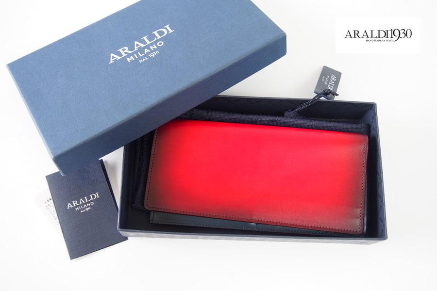 アラルディ|ARALDI 1930|ジップ小銭入れ付きロングウォレット|長財布|ROSSO|レッド イメージ01