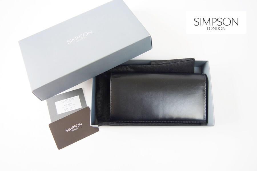 シンプソン ロンドン|SIMPSON LONDON|長財布|小銭入れ付き|ブライドルレザー|ブラック|W680 イメージ01
