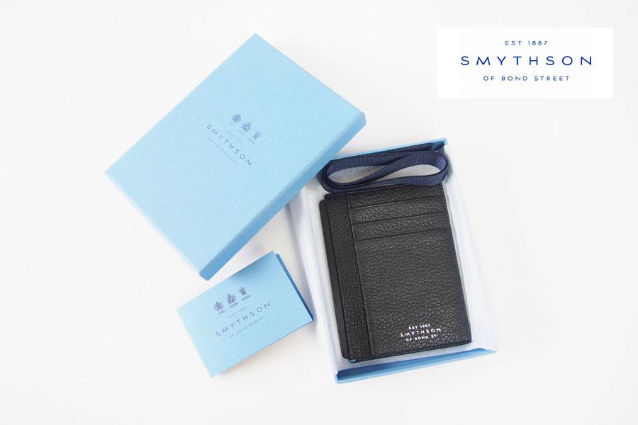 スマイソン|SMYTHSON|BURLINGTON|バーリントン|カードケース|ブラックイメージ01