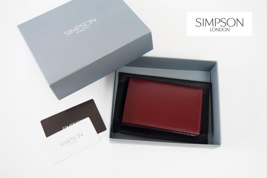 シンプソン ロンドン|SIMPSON LONDON|カードケース|名刺入れ|ブライドルレザー|ボルドー|W46 イメージ01