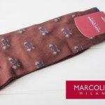 マリコリアーニ|marcoliani|自転車柄|クルー丈ソックス|ブラウン メインイメージ