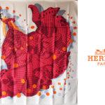 エルメス|HERMES|カレ90|i HOLA FLAMENCA!|オラ・フラメンカ|ホワイト|レッドメインイメージ
