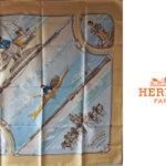 【中古】エルメス|HERMES|カレ90|GRONLAND|グリーンランド|ベージュ系