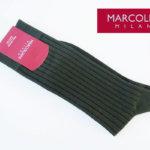 マリコリアーニ|marcoliani|クルー丈リブソックス|カーキ