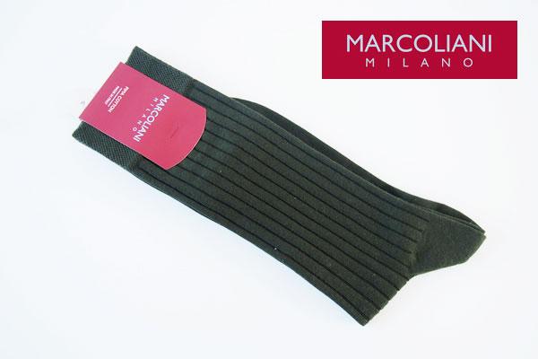 マリコリアーニ|marcoliani|クルー丈リブソックス|カーキ メインイメージ