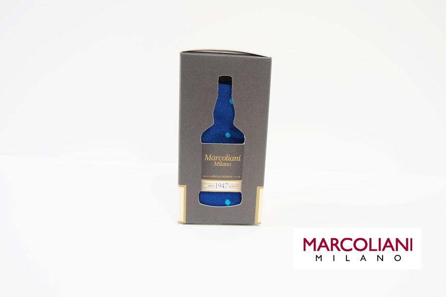 マリコリアーニ|marcoliani|クルー丈ドット柄ソックス|ブルー イメージ01
