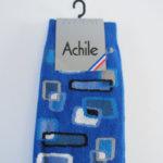 アシル|Achile|クルー丈カジュアルソックス|ブルー イメージ03