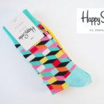 ハッピーソックス|happy socks|クルー丈カジュアルソックス|オプティックソックス|マルチカラー イメージ01