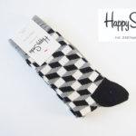 ハッピーソックス|happy socks|クルー丈カジュアルソックス|オプティックソックス|モノトーン イメージ01