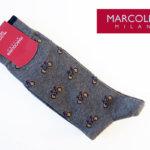 マリコリアーニ|marcoliani|自転車柄|クルー丈ソックス|グレイ メインイメージ