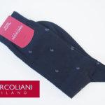 マリコリアーニ|marcoliani|クルー丈ピマコットンミニペイズリーソックス|ネイビー イメージ01