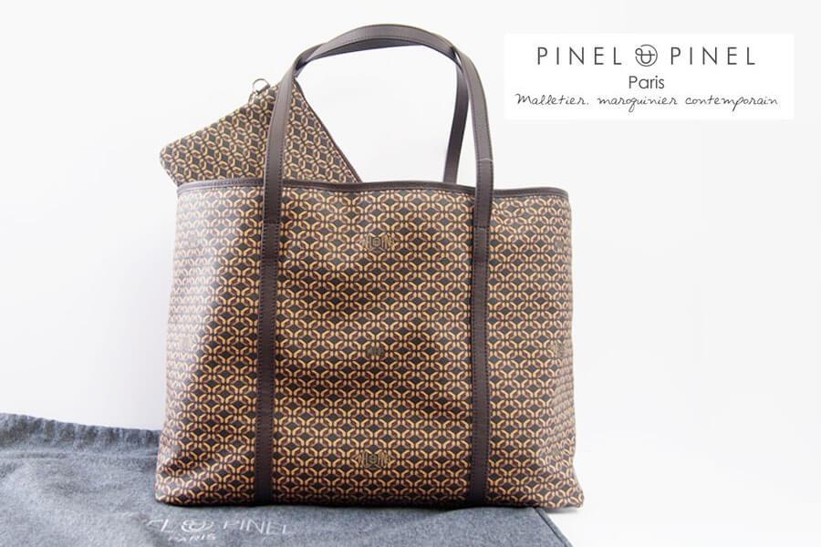 ピネルエピネル|pinel et pinel|PVC×レザーモノグラム柄トートバッグイメージ01