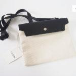 キャバ|CABAS|サコッシュ|CaBas N°60 Micro Shoulder medium|ホワイト×ブラック