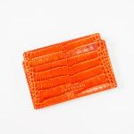 スマイソン|SMYTHSON|MARA COLLECTION|フラットカードホルダー|オレンジ|クロコ型押しカーフレザーイメージ02