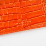 スマイソン|SMYTHSON|MARA COLLECTION|フラットカードホルダー|オレンジ|クロコ型押しカーフレザーイメージ03