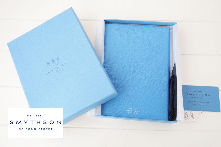 スマイソン|SMYTHSON|SOHOノートブック|ミドルサイズノート|ナイルブルーイメージ01
