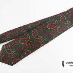 ルイファグラン|LOUIS FAGLIN|クラヴァット ボワバン|コラボ|稀少|'50~'80年代デッド生地使用ネクタイ|ビッグペイズリー柄|グリーンイメージ01