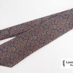 ルイファグラン|LOUIS FAGLIN|クラヴァット ボワバン|コラボ|稀少|'50~'80年代デッド生地使用ネクタイ|ペイズリー柄|ネイビー系