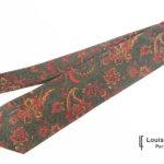 ルイファグラン|LOUIS FAGLIN|クラヴァット ボワバン|コラボ|稀少|'50~'80年代デッド生地使用ネクタイ|フラワー柄|グリーン系イメージ01