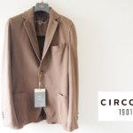 チルコロ|CIRCOLO 1901|コットンストレッチ鹿の子ジャージ2Bジャケット|CN1354|ブラウンイメージ01