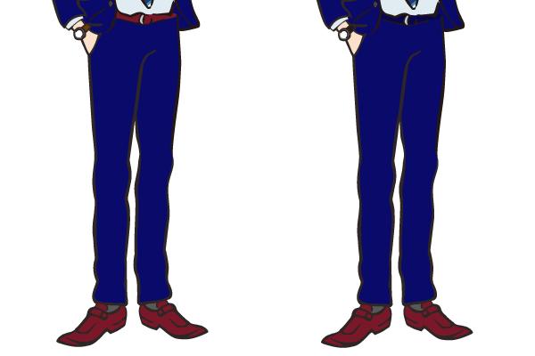 ベルトと靴のコーディネート 鮮やかなカラー