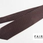 フェアファックス|FAIRFAX|ドット柄シルクネクタイ|ブラウンイメージ01