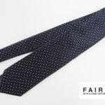 フェアファックス|FAIRFAX|ドット柄シルクネクタイ|ネイビーイメージ01