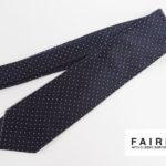 フェアファックス|FAIRFAX|ドット柄シルクネクタイ|ネイビー×ピンクイメージ01