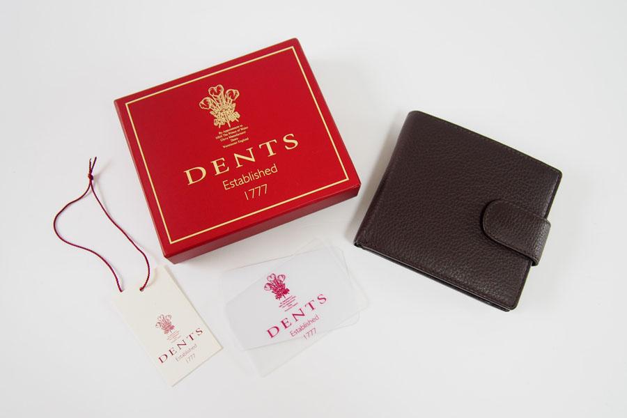 デンツ|DENTS|2つ折り財布|グレインレザー|ダークブラウンイメージ01