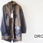 ドローム|DROMe|ポリエステルツイル×カーフレザー|フィッシュテールコート|モッズコート|デタッチャブルファビットファーライナー付き|DPU7545-D865